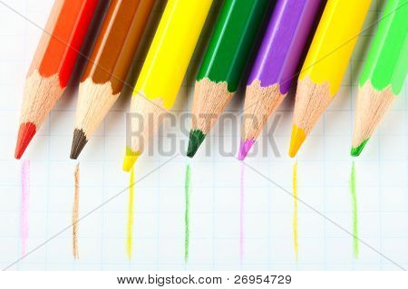 Many Different Colorful Pencils