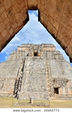 Uxmal, Mexico - Mayan ruins (Pyramid of the Magician)