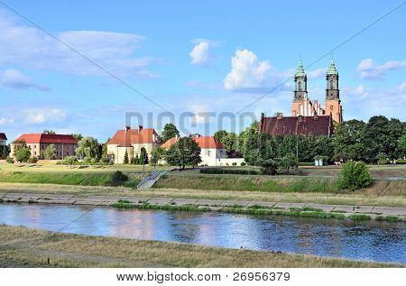 Ostrow Tumski (Cathedral Island) with Archcathedral Basilica of St. Peter and St. Paul, Poznan, Poland