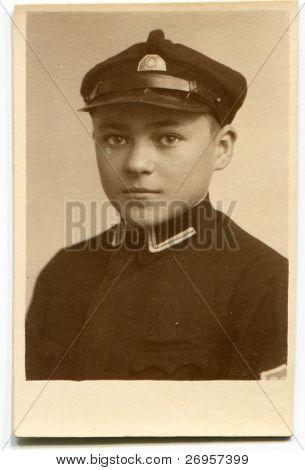 Vintage photo of a boy (twenties)