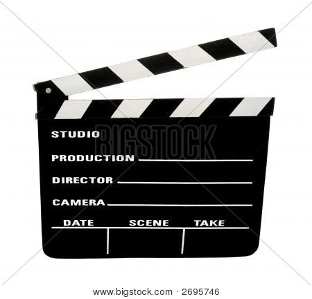 Film Slate With Clipping Path
