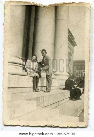 Vintage Foto des Paares (vierziger Jahre)