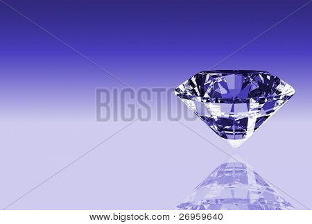 Illustration showing the most perfect and valuable gem: diamond.