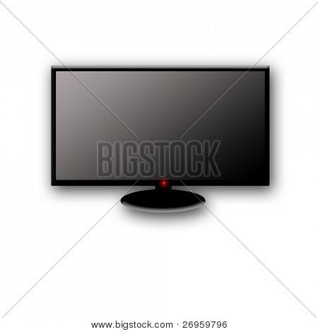 illustration of a lcd or plasma hd tv.