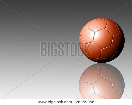 An illustration of a red soccer ball.