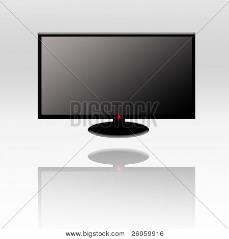 Illustration of a HD TV.