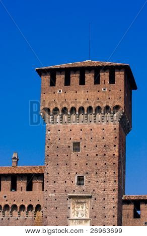 Sforza's castle in Milan