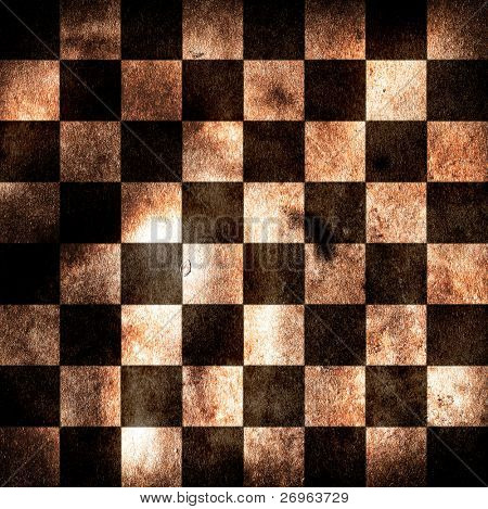 Grungy chessboard