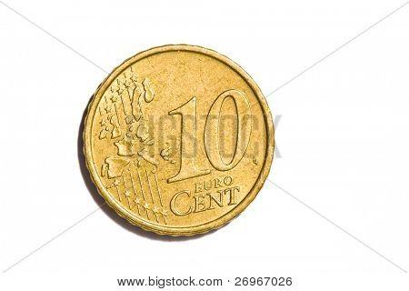 10 euro cent coin macro