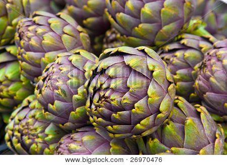 Many artichokes