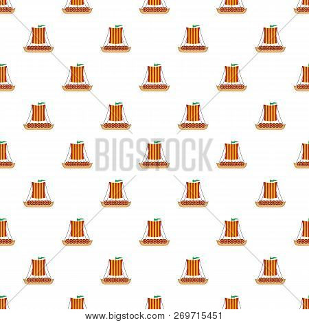 Poster Of Viking Ship Pattern Seamless Vector Repeat For Any Web Design