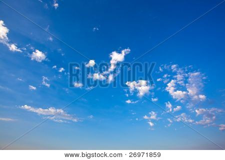 Late noon summer sky