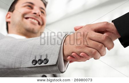 Businessperson shaking hand