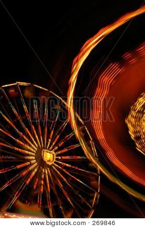 Blurred Carnival Rides Abstract