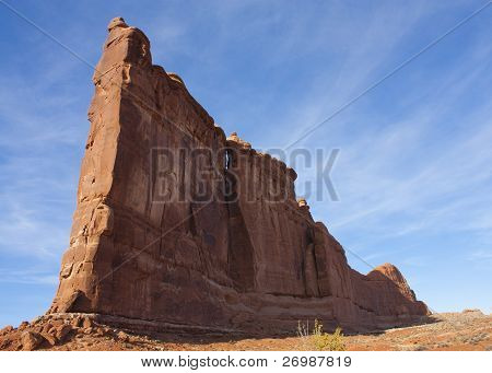 Weathered rock formation Arches National Park