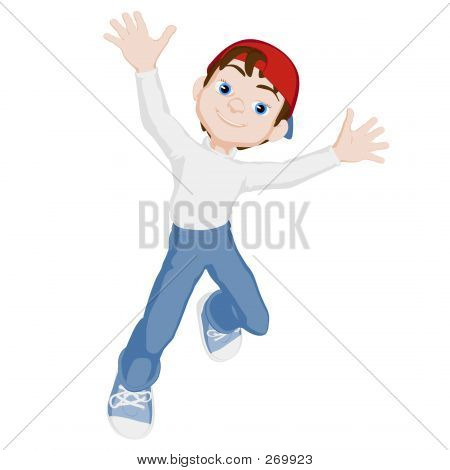 Boy In Blank Jersey