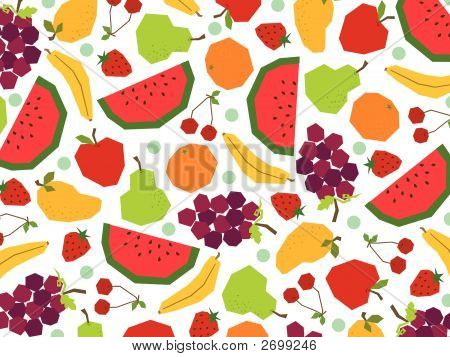 Papercut retrô frutas (Vector)