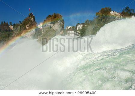 Mighty Rhine Falls (largest falls in Europe) at Schaffhausen in Switzerland.