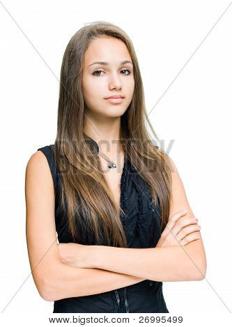 Gorgeous Confident Young Brunette.