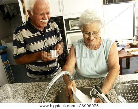 grandparents in a kitchen