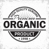 Organic Products Vintage Label Design, Natural Products  Emblem, Grange Print Stamp, Organic Product poster