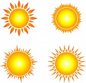 Sun Icon Iet. Sun Collection Logo Icon Vector. Sun Star Collection, Sun Icon Logo. Sun Icon. Sun Log poster