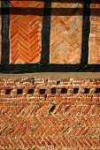 Medieval Brick And Timber Detail poster