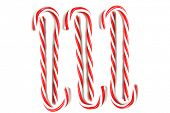 Candy Cane. Candy Canes isolated on white. room for text. poster