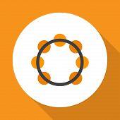 Samba Icon Flat Symbol. Premium Quality Isolated Rhythm Element In Trendy Style. poster
