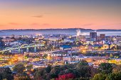 Memphis, Tennessee, USA downtown city skyline at dusk. poster