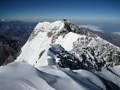 foto of aconcagua  - The view towards the south face from the summit of Aconcagua - JPG