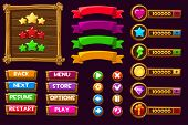 Vector Game Ui Kit. Complete Menu Of Graphical User Interface Gui To Build 2d Games. Can Be Used In  poster