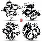 Постер Китайский Дракон