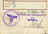stock photo of nazi  - Work permit  - JPG