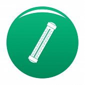 Medical Thermometer Icon. Simple Illustration Of Medical Thermometer Vector Icon For Any Design Gree poster