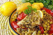 picture of tagine  - Moroccan fish chermoula tagine - JPG