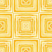 Orange Geometric Watercolor. Delicate Seamless Pattern. Hand Drawn Stripes. Brush Texture. Excellent poster