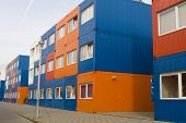Colorful Cargo Containers Used As Houses