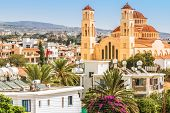 View Of The Town Of Paphos In Cyprus.  Paphos Is Known As The Center Of Ancient History And Culture  poster