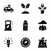 Pure Potency Icons Set. Simple Set Of 9 Pure Potency Icons For Web Isolated On White Background poster