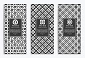 Luxury Black Packaging Design Of Chocolate Bars. Vintage Vector Ornament Template. Elegant, Classic  poster