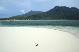 picture of camiguin  - white beach on vocanic camiguin island mindanao the philippines - JPG