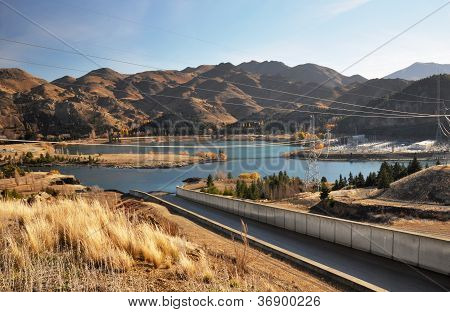 Benmore Dam Spillway & Power Station, Otago New Zealand