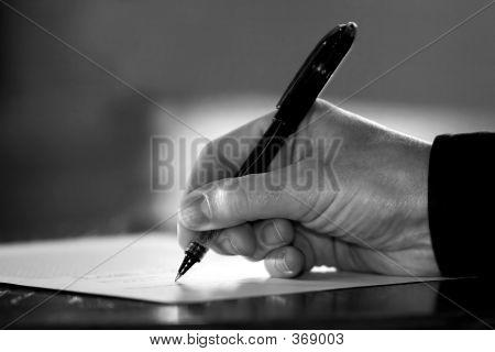 Hand Sign B&w