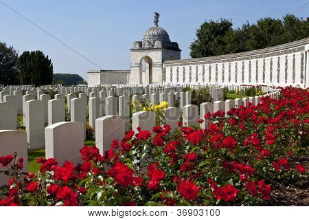 Tyne Cot Cemetery In Ypres