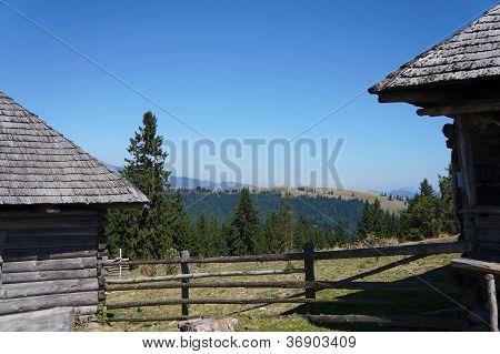 Old farmhouse in mountain