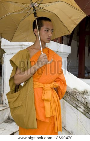 Buddhistic Monk In Luang Prabang, Laos