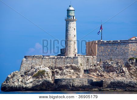 Morro Castle, Fortress Guarding The Entrance To Havana Bay, Cuba