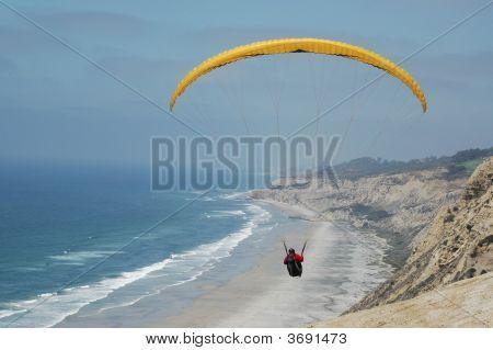 Hang Gliding Over Beach