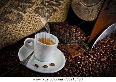 Coffee smoking